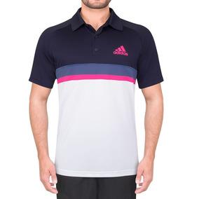 Camisa Polo adidas Club Td Branco Marinho Cinza E Pink 66369e02ec475