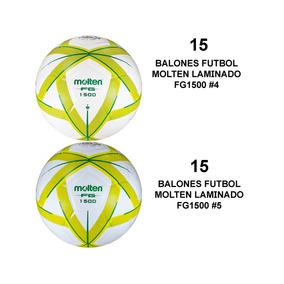 Kit 30 Balone Futbol Molten Forza Laminado 15pz  4 + 15pz  5 59bf7db0f218a