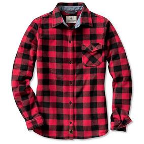Camisa Para Mujer Legendary Polar Roja Tipo Escoces Talla Xl