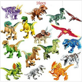 Dinosaurios Jurassic World Park Compatible Lego 16 Dif Blue