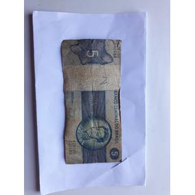 Nota Dinheiro Antigo - 5 Cruzeiros - Brasil