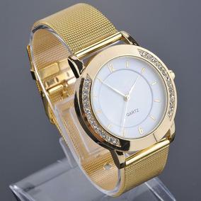 d95f7bff8ff Relógio Feminino Com Strass F5064 Classico Unissex - Relógios De ...