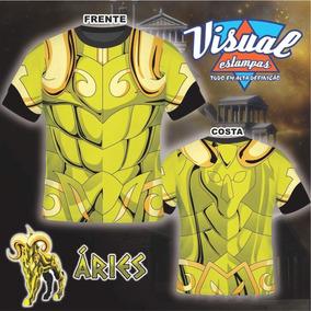 Camiseta Cavaleiro Do Zodíaco Armaduras De Ouro