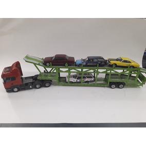 Miniatura Cegonheiro Scania C Carros Opala Caravan 1:43 Top!