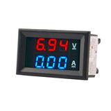 Voltímetro Amperímetro Digital Led Dc 10a Azul E Vermelho