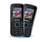 Celular Amvox Preto E Azul Ax 2002