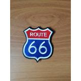 Parche Bordado Route 66 Motos Frente 8cm X 7cm