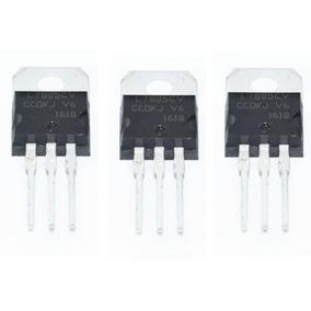 3 Unidades Ci Regulador De Tensão 7805 5v Lm7805 Arduino Pic