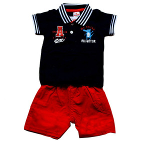 Camisa Polo Masculina E Bermuda Infantil - Brandili e69269b6e7acb