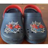 Sandália Infantil Estilo Crocs Homem Aranha