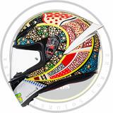 Capacete Agv K1 Dreamtime 46 Valentino Rossi Branco Com Nota