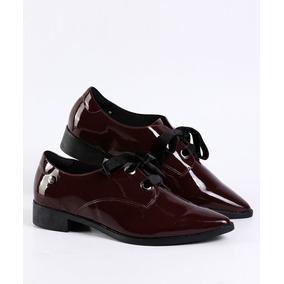 0ef90c4f7 Sapato Oxford Bico Fino Quiz Bordo Verniz Ref. 69-50127