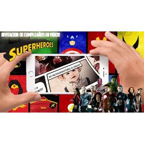 Superheroes Marvel - Video Invitacion Cumpleaños