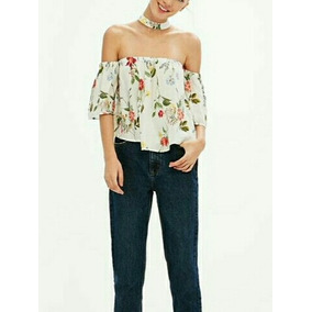 Blusa Off Shoulders Con Choker Bershka, No Zara ,forever 21