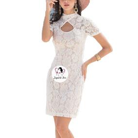 Vestido Encaje Blanco Sexy Boda Civil Moda Coreana Mod.232