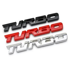 Emblema Turbo Para Carros Em Metal 13 Cm Ótimo Acabamento.
