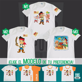 3d54291b16 Camiseta Niño Jake Y Los Piratas Personalizadas En Algodon.   20.000