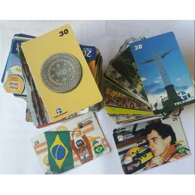 Cartões Telefônicos Dos Anos 90 (220 Unidades) Alguns Raros.