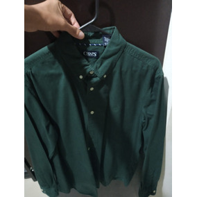 Camisa Chaps Ralph Lauren Verde Manga Larga Talla Xl