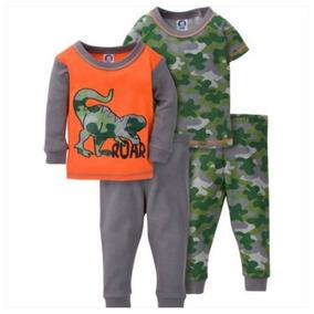 2 Pijamas Americanas Camiseta Pantalón 12 Meses (4 Piezas)