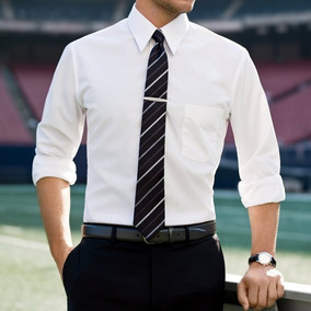 Kit Camisa Social Masculina Branca Slim Mista + Gravata
