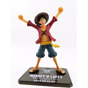 Figure Action Boneco Luffy Chapéu Palha Novo Mundo One Piece