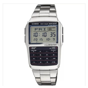322855ac4be Relogio Calculadora Casio Data Bank Illuminator Dourado - Relógios ...