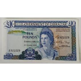 Cédula / Nota Antiga - Gibraltar 1986. 10 Pounds