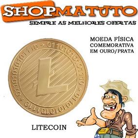 Moeda Física Litecoin - Edição Comemorativa Colecionador