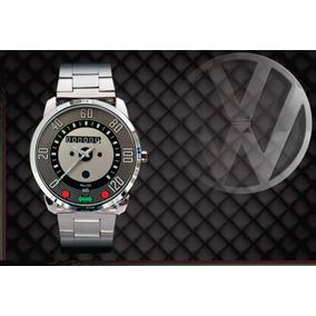 0d3fe24148a Relógio De Pulso Personalizado Painel Vw Fusca 120km Antigo