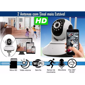 Camera Ip Noturna Ir Wifi Hd Iphone Android Babá Eletronica