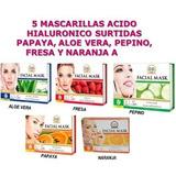 5 Tipo Mascarillas Surtidas Acido Hialuronico Nevada A S/.5