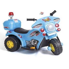 Mini Moto Elétrica Triciclo De 02 A 05 Anos Infantil Policia