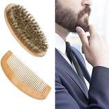 Peine + Cepillo Barba - Madera Cerdas Jabali Hombre Caballer