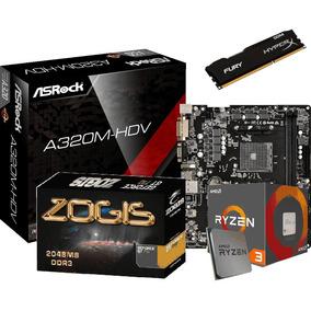 Kit Gamer A320m-hdv Am4 + Ryzen R3 1200 + 4gb Ddr4+ Geforce