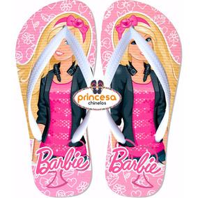 Chinelo Personalizado Da Barbie 45 Pares Bonito