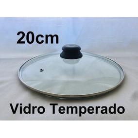 Tampa De Vidro Avulsa 20 Cm Para Panela Frigideira Caçarola