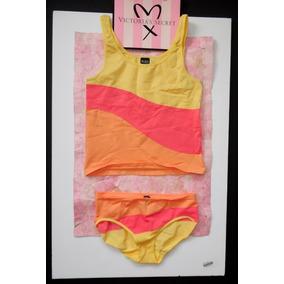 Victorias Secret Lencería Pijama Corta Set Cami Y Pantie Med