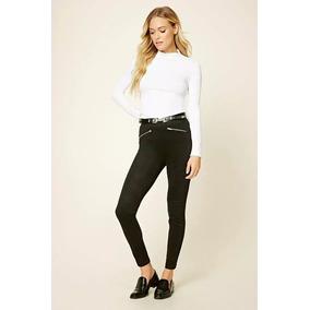 Forever 21 Legging Pantalon Antelina Strech Nuevo Negro