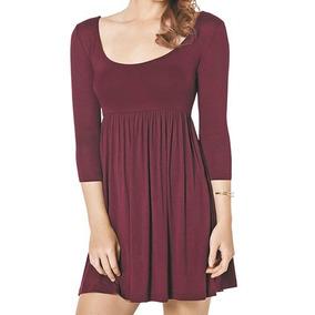 Vestido Ava 2902 Color Vino Dama Oi