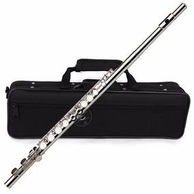 Flauta Traversa En Do Llaves Cerradas Sol Desalineado Plata