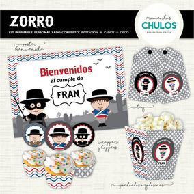 Kit Imprimible El Zorro Disfraces Y Cotillon En Mercado Libre
