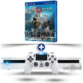 Playstation 4 Ps4 Slim Branco 500 Gb + Jogo God Of War 4