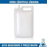 Soda Caustica Líquida 50% - Galão De 5 Litros + Frete Grátis