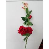 Pimpollos Rosas Rojas Artificiales En Mercado Libre Argentina
