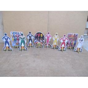 10 Display Power Rangers Might Morfim, Decoração.mesa 15cm