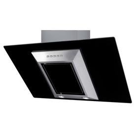 Campana Cocina Cristal Vertical Negro 90 Cm Ch Guiza Ac Inox