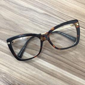 Armação Óculos De Grau Gatinha Muito Chique Tartaruga A515 - Óculos ... 45817853f0