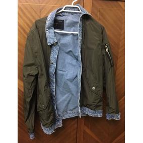 Chaqueta Reversible Verde/jeans Zara Men Talla S, Nueva