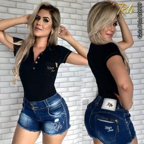 Camiseta Polo Feminina Rhero Jeans Estilo Pit Bull Cod 10999 b8c7ea05651
